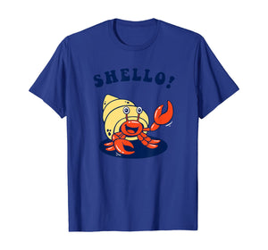 Shello!  - Hermit Crab Sea Shell Funny T-Shirt