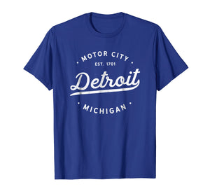 Classic Retro Vintage Detroit Michigan Motor City T-Shirt