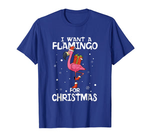 Funny shirts V-neck Tank top Hoodie sweatshirt usa uk au ca gifts for I Want A Flamingo For Christmas Shirt Funny Xmas Pajama Gift 2014127
