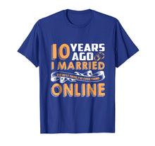 Ladda upp bild till gallerivisning, Anniversary Gift T-Shirt For 10 Years Marriage Couple Tee.