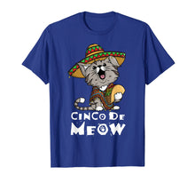 Ladda upp bild till gallerivisning, Cinco De Meow Shirt With Smiling Cat Taco And Sombrero
