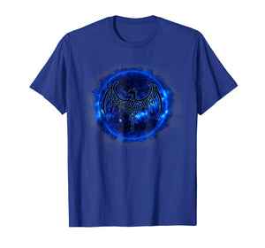 Celtic Dragon Blue Sun T Shirt Tattoo