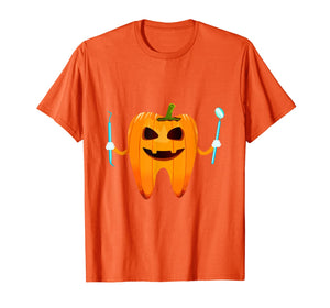 Funny Dental Halloween Tooth Pumpkin Dentist Halloween Gift T-Shirt 183177