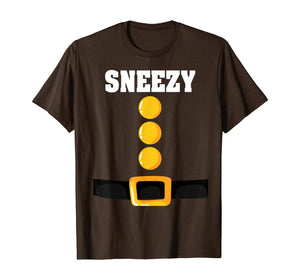 Brown Dwarf Costume Funny Halloween Christmas Gift Sneezy T-Shirt 427427