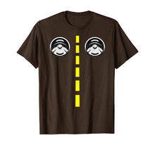 Ladda upp bild till gallerivisning, Road Marking With Headlights Funny Halloween Costume T-Shirt 357529