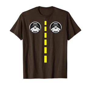 Road Marking With Headlights Funny Halloween Costume T-Shirt 357529