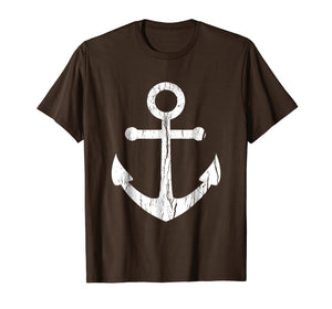 Vintage Boat Anchor T Shirt Nautical Sailing Mens, Boys Gift