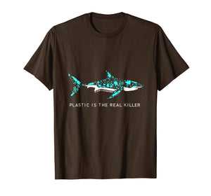 Funny shirts V-neck Tank top Hoodie sweatshirt usa uk au ca gifts for Plastic is the real killer T shirt shark Shirt 919556
