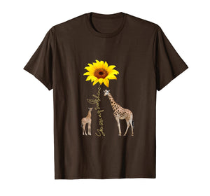 Sunflower - You Are My Sunshine Giraffe T-Shirt