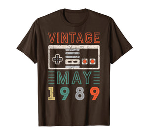Vintage May 1989 30th Birthday Shirt 30 Year Old Shirt