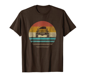 Vintage Jeeps Shirt Retro 70s Distressed Off Road Men Women