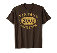 Ladda upp bild till gallerivisning, 2001 18 Years Old 18th B-Day Limited Birthday Gift T-Shirt