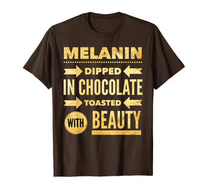 Funny shirts V-neck Tank top Hoodie sweatshirt usa uk au ca gifts for Oheneba: Melanin Dipped in Chocolate With Beauty T-Shirt 1139522