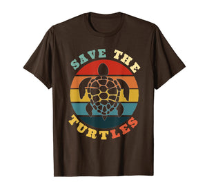 Save The Turtles Vintage Funny Turtles Lover Gift T-Shirt