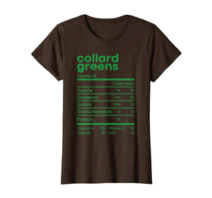 Funny Collard Greens Nutrition Facts Thanksgiving matching T-Shirt 260829