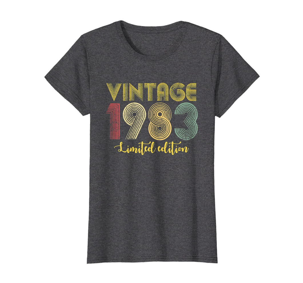 Vintage 1983 T Shirt Born In 1983 Retro 36th Birthday Gifts