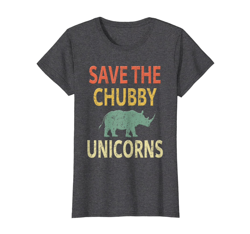 Save The Chubby Unicorns Shirt. Vintage Retro Colors Tee