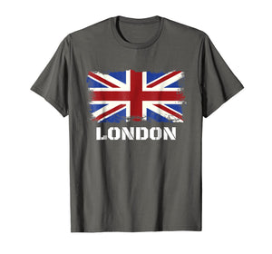 Souvenir London T-Shirt City Vintage Uk Flag British Tee