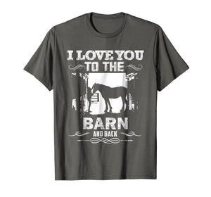 Funny shirts V-neck Tank top Hoodie sweatshirt usa uk au ca gifts for To The Barn And Back Horse Lover Riding Gifts Shirt 1542891