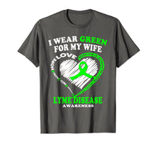 Ladda upp bild till gallerivisning, Funny shirts V-neck Tank top Hoodie sweatshirt usa uk au ca gifts for Lyme Disease Awareness Shirt - I Wear Green For My Wife 2996282