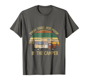 Vintage Thou Shall Not Poop In The Camper Camping Tshirt
