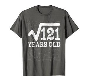 Square Root Of 121 11th Birthday 11 Years Old T-Shirt