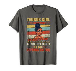 Taurus Girl I Can Be Mean T-Shirt Taurus Girl Birth Month