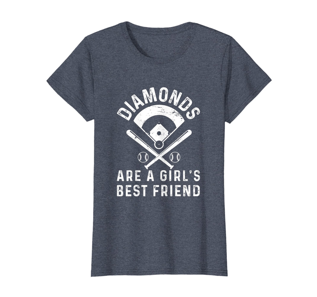 Womens Diamonds Are A Girl's Best Friend Baseball T-Shirt