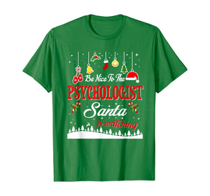 Psychologist Santa Is Watching Christmas Funny Gifts T-Shirt
