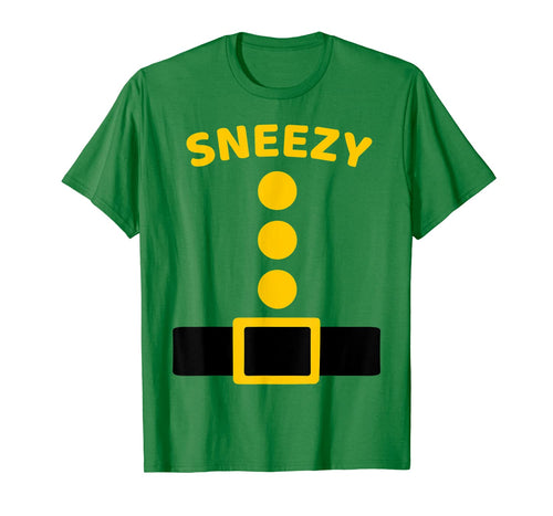 Sneezy Dwarf Costume Multicolor Shirt Funny Halloween Gifts 995285