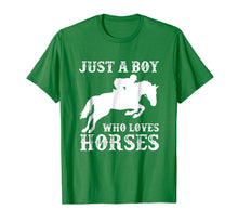 Ladda upp bild till gallerivisning, Funny shirts V-neck Tank top Hoodie sweatshirt usa uk au ca gifts for Just a Boy Who Loves Horses Shirt Horse Riding Equestrian 2626018