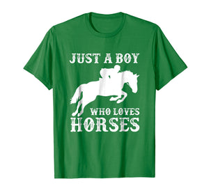Funny shirts V-neck Tank top Hoodie sweatshirt usa uk au ca gifts for Just a Boy Who Loves Horses Shirt Horse Riding Equestrian 2626018