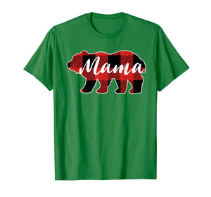 Buffalo Plaid Mama Bear T-Shirt Mothers Day Gifts