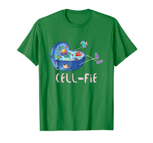 Cell Fie, Funny Science Biology Teacher Shirt.Cellfie Tee