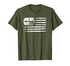 Usa Flag - Lines Of Coke (Cocaine) And Razor Blade T-Shirt