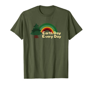 Funny shirts V-neck Tank top Hoodie sweatshirt usa uk au ca gifts for Earth Day Everyday Rainbow Pine Tree T-Shirt 1498782
