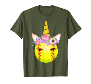 Softball Unicorn Shirt Funny Unicorn Lover Gifts For Girls