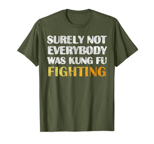Surely Not Everybody Was Kung Fu Fighting T Shirt Funny Gift