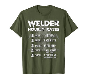 Welder Hourly Rate Tshirt Weld Shirt Welding Mens Gift