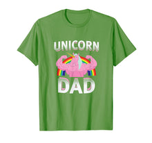 Ladda upp bild till gallerivisning, Unicorn Dad T Shirt Rainbow Dad Of The Birthday Girl Gift