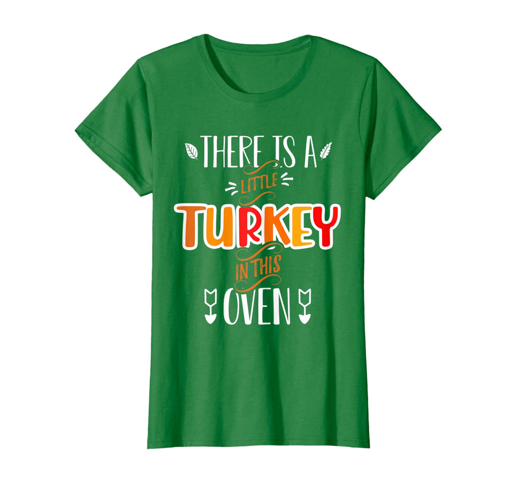 Womens Funny Turkey Mom Thanksgiving Pregnancy Announcement shirt T-Shirt 179055