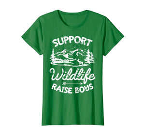 Support Wildlife Raise Boys T Shirt Parents Mother Father