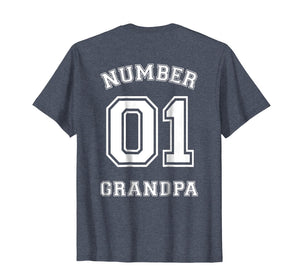 Funny shirts V-neck Tank top Hoodie sweatshirt usa uk au ca gifts for Mens Number 1 GRANDPA Sports Jersey Style T-Shirt 1045538