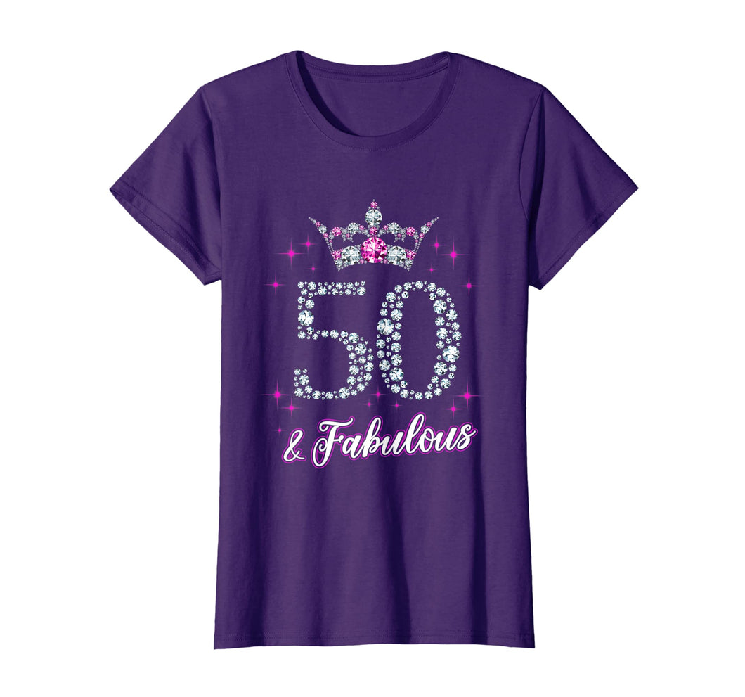 Womens 50 And Fabulous 1969 50th Birthday Gift T-Shirt