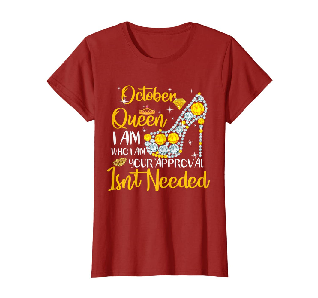 Womens October Girl I Am Who I Am Funny Birthday Gift T-shirt T-Shirt 182367