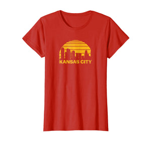 Vintage Kansas City Cityscape Retro Graphic T-Shirt