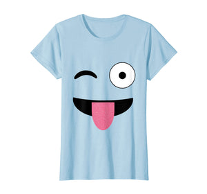 Funny shirts V-neck Tank top Hoodie sweatshirt usa uk au ca gifts for Emoji Face With Winking One Eye and Tongue Out Emoticon 1578429