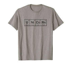 Unicorn Tshirt - Periodic Table Of Elements