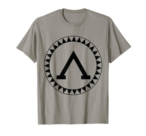 Spartan Shield T-Shirt Sparta Iliad Ancient Greece Greek Tee