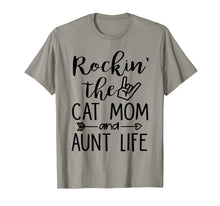 Ladda upp bild till gallerivisning, Rockin' The Cat Mom And Aunt Life For Women T-Shirt